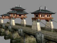 网游《赤壁》中的桥3D模型