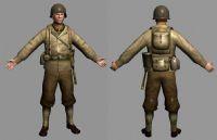 二战时期的英国士兵3d模型