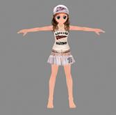 很可爱的劲舞MM,卡通人物3D模型