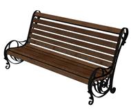 公园休憩长椅3d模型