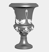 雕花的花盆3d模型