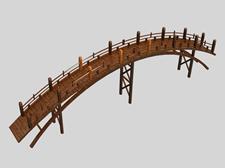 木桥3d模型