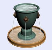 杯子造型的喷泉3d模型