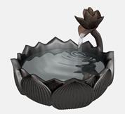 莲花池,艺术品3d模型