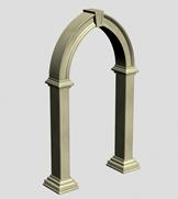 拱门,园林小品3d模型
