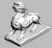 狮子雕塑3d模型