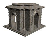 园林艺术建筑3d模型