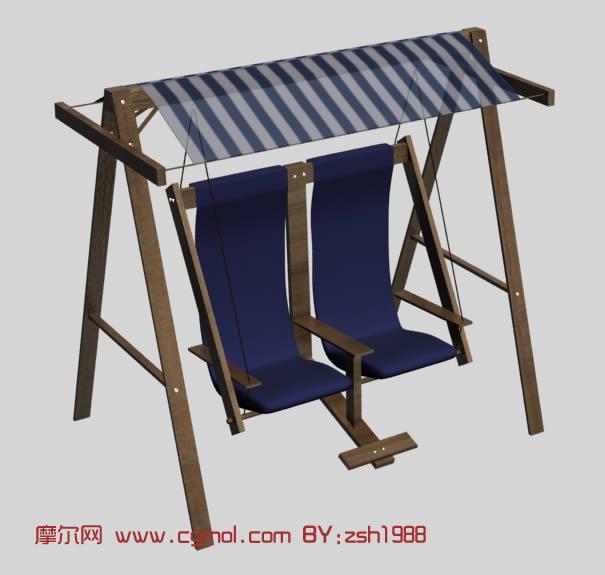 户外秋千椅3d模型