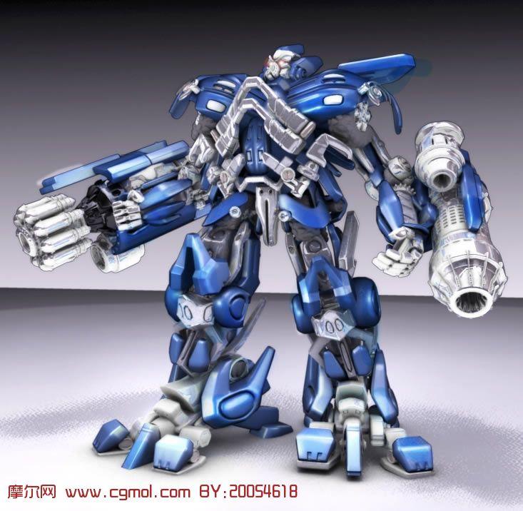 超酷机器人角色 变形金刚 铁皮 maya模型高清图片