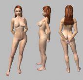 女性人体,现代女性,女人3d模型