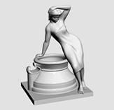 性感女人雕塑3d模型