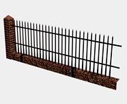 栅栏,围墙3d模型
