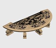 很有艺术感的桌子,园林小品3d模型