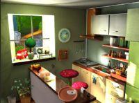 清晨的厨房maya模型