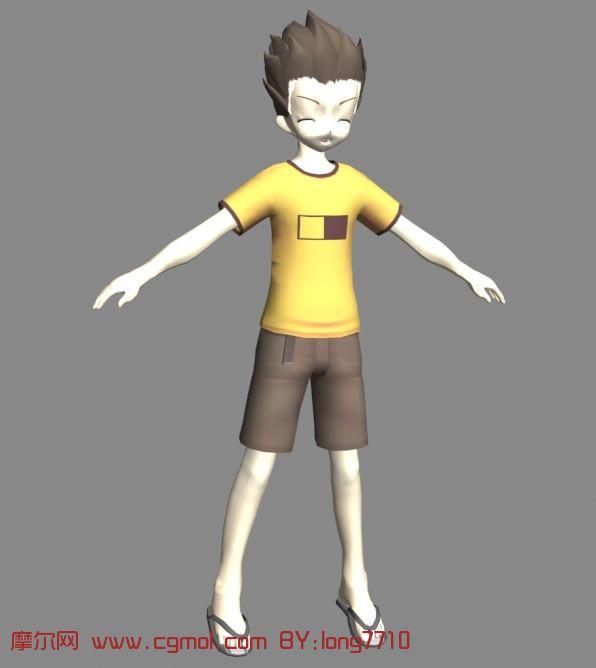 通小男孩3d模型