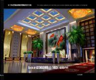洗浴休闲会所大堂,大厅3d模型