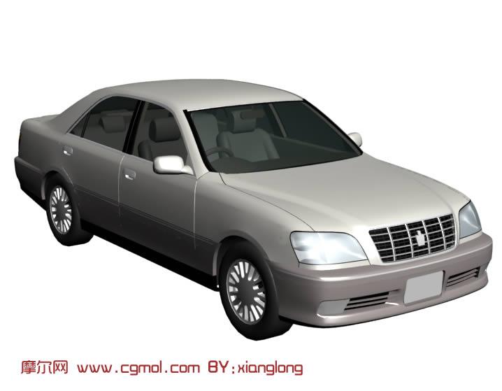 老款丰田皇冠汽车3d模型 汽车 运输模型高清图片