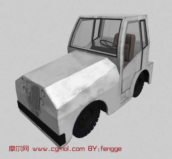拖拉机,车头3d模型