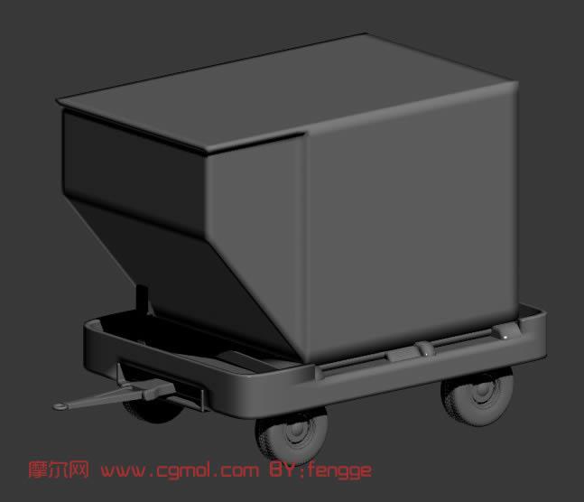 车箱,拖车3d模型