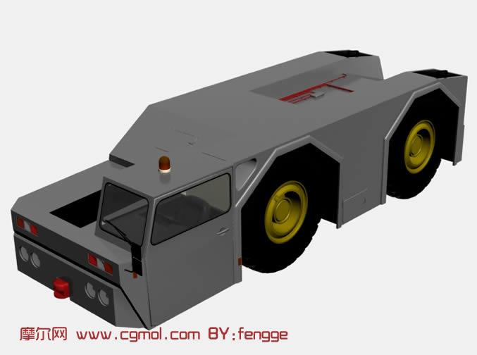 重型装甲救援车3d模型