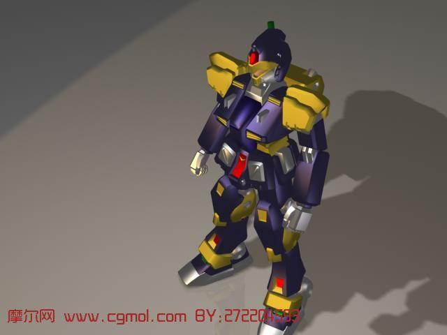 卡通机器人3d模型,机械角色