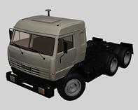 俄罗斯kamaz卡玛斯重型卡车3d模型
