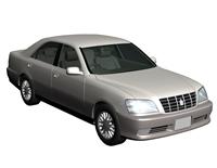 老款丰田皇冠汽车3d模型