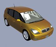 金色汽车3d模型