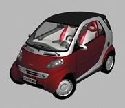 奔驰Fortwo,smart汽车3d模型