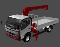吊车,货车3d模型