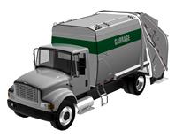 垃圾清理车,保洁车3d模型