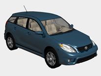 丰田小汽车3d模型