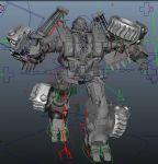 变形金刚maya模型(骨骼已绑定)