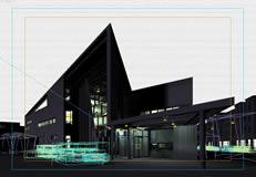大型精细现代建筑3d模型