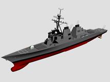 导弹驱逐舰,战舰3d模型