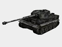 虎式坦克3D模型