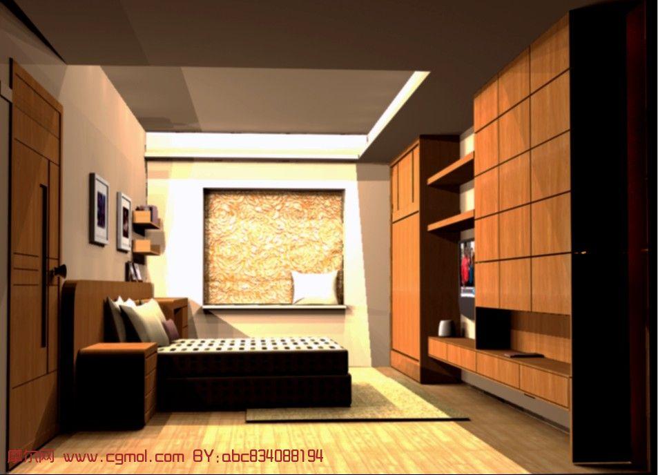 卧室,房间3d模型