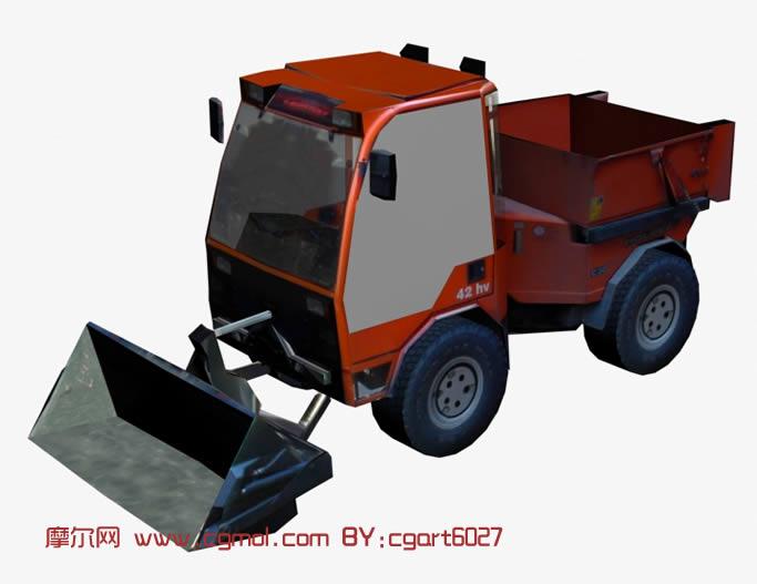 铲车,推土车,推土机,3d模型 汽车 运输模型