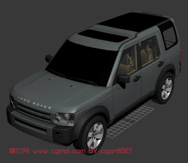 landrover路虎越野车,3d汽车模型