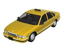 黄色的士,3d汽车模型