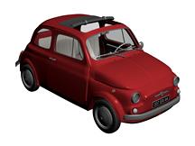 小甲壳虫汽车3d模型