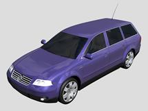 大众商务车,3d汽车模型