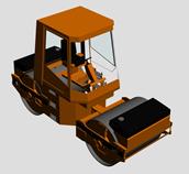 压路车3d模型