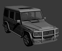 奔驰越野车,3d汽车模型