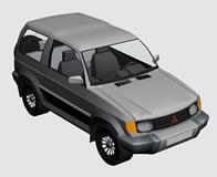 三菱汽车3d模型