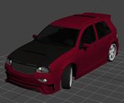 红色拉力车,3d汽车模型