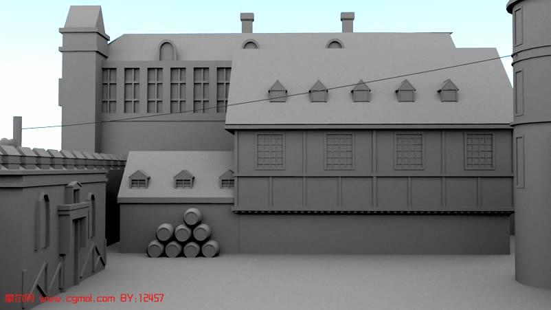 小型场景3D模型