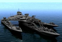设计非常霸气的未来军舰,科幻战舰3d模型