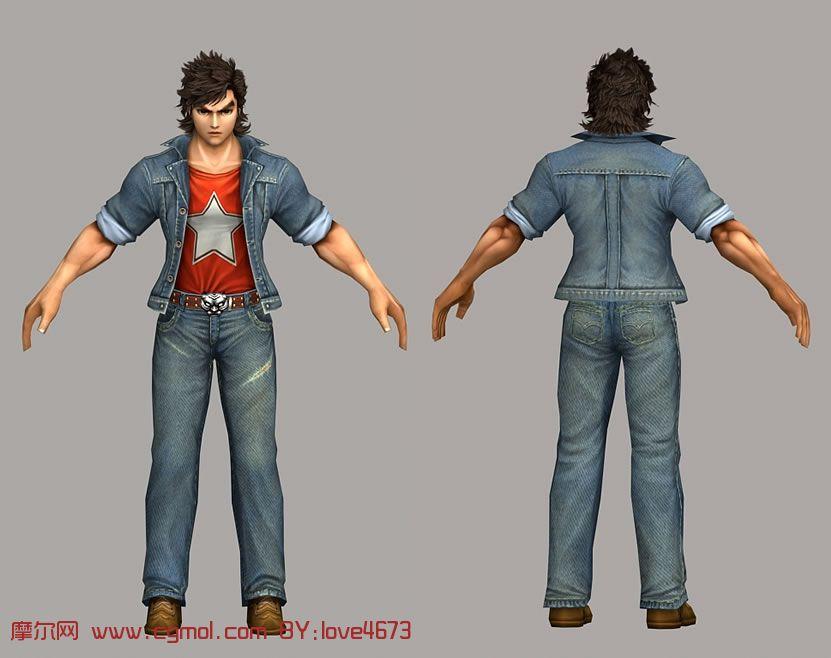 3d漫画角色人物模型