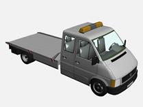抢修车,警车,皮卡车3d模型